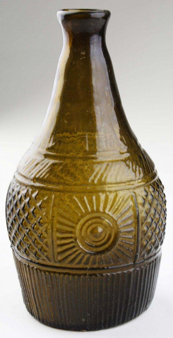 19th c blown three mold geometric decanter GIII-16, - 3