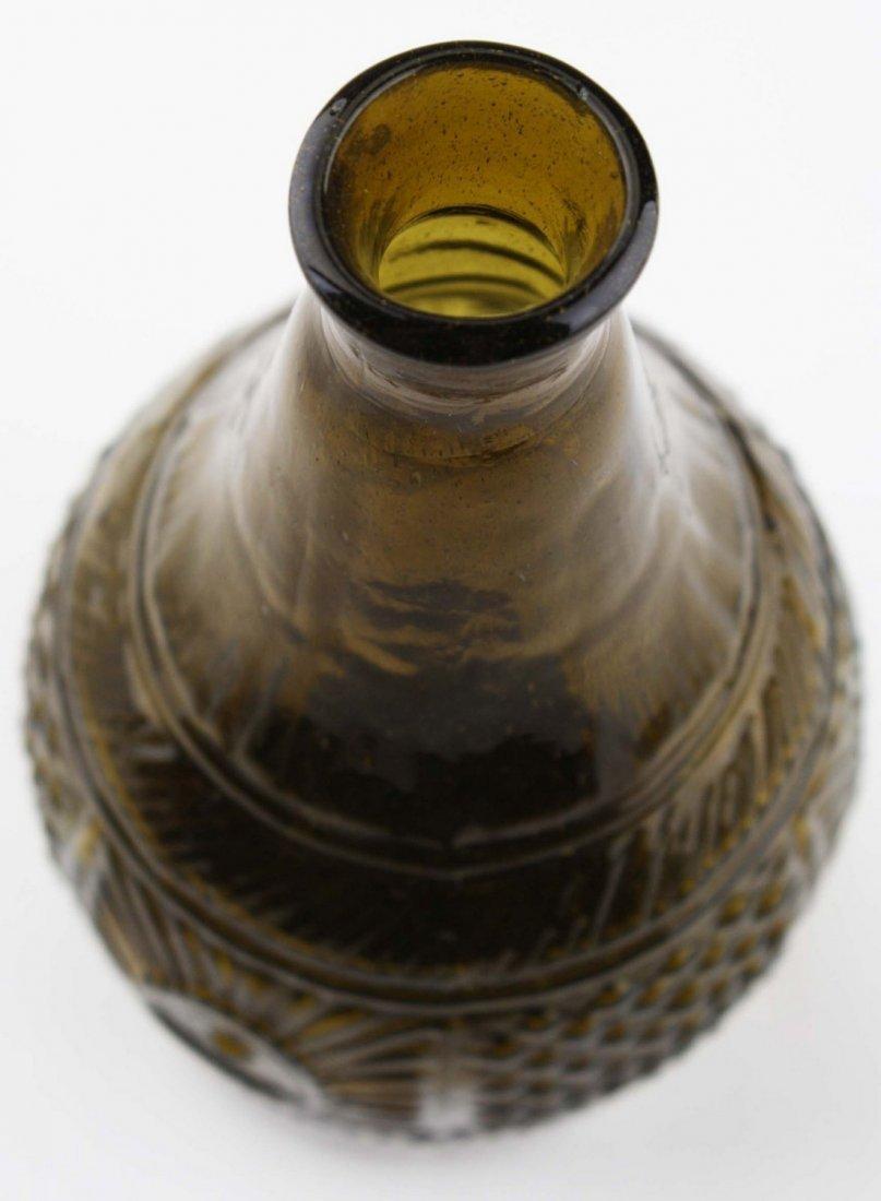 19th c blown three mold geometric decanter GIII-16, - 6
