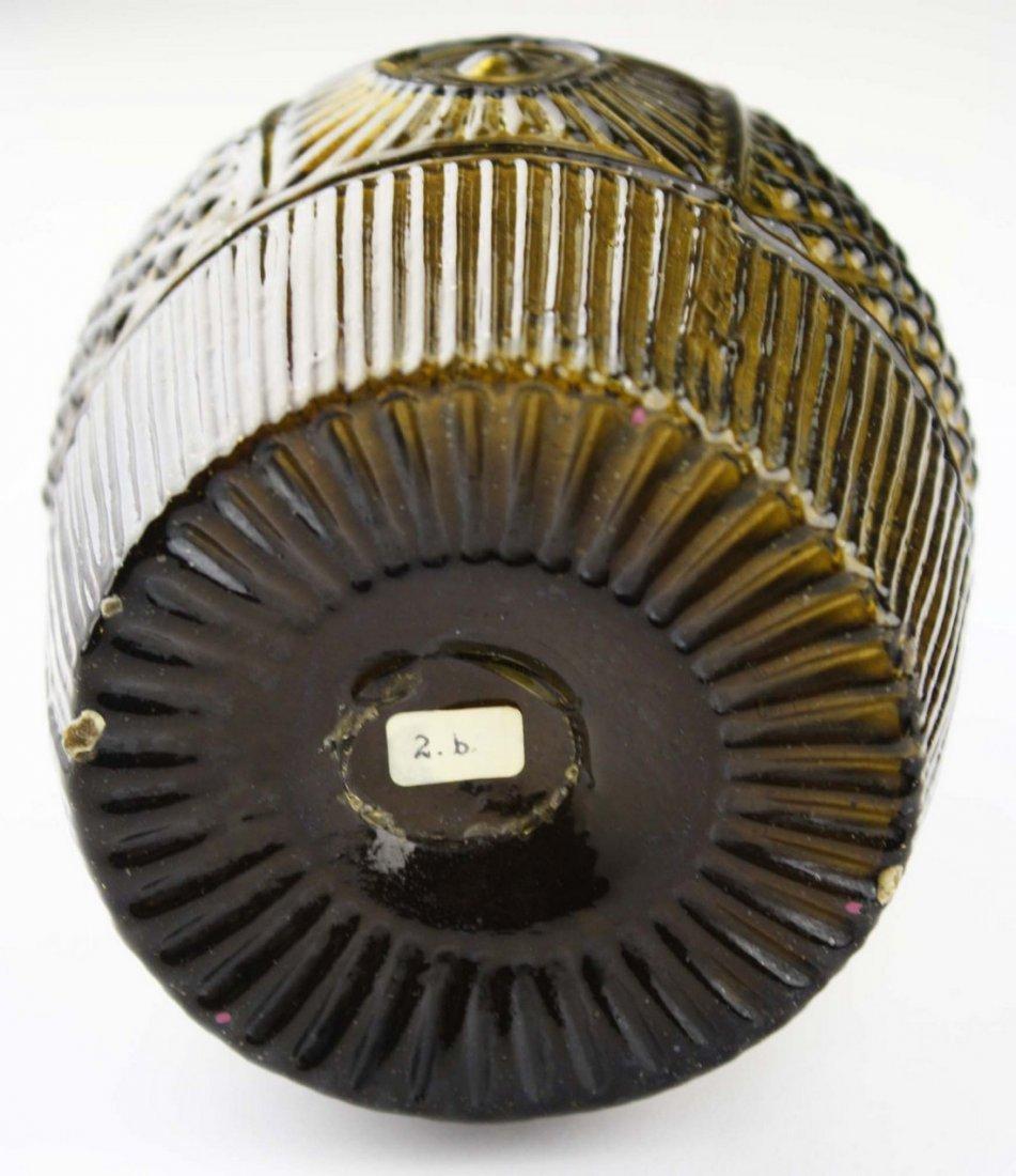 19th c blown three mold geometric decanter GIII-16, - 8