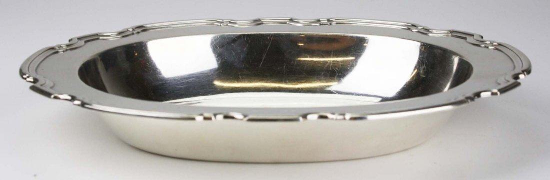Tiffany & Co sterling silver pie crust edge oval