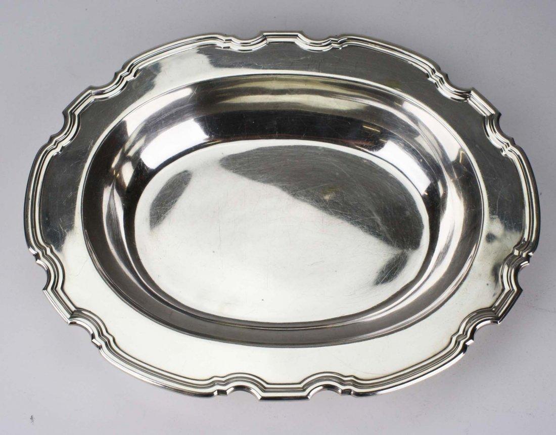 Tiffany & Co sterling silver pie crust edge oval - 2