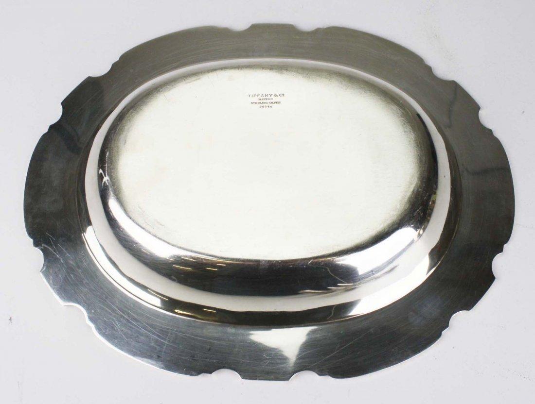 Tiffany & Co sterling silver pie crust edge oval - 3