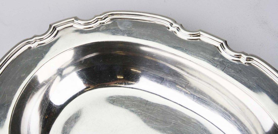 Tiffany & Co sterling silver pie crust edge oval - 4