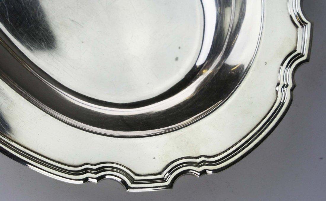 Tiffany & Co sterling silver pie crust edge oval - 5