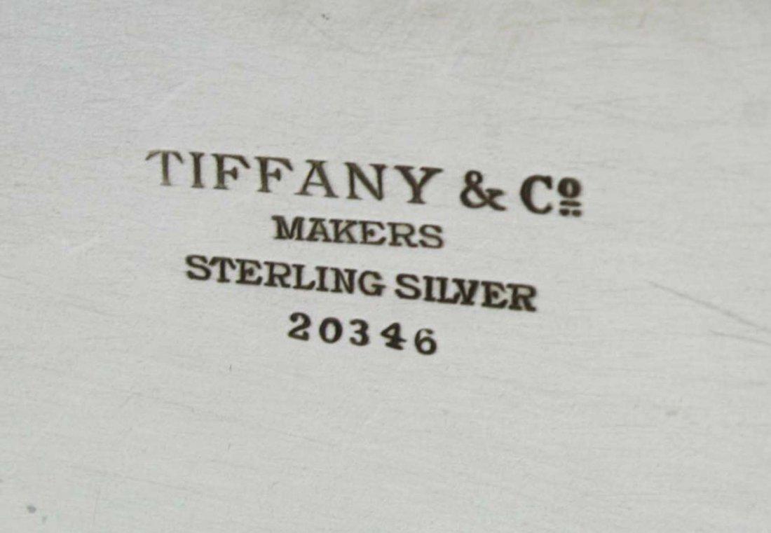 Tiffany & Co sterling silver pie crust edge oval - 6