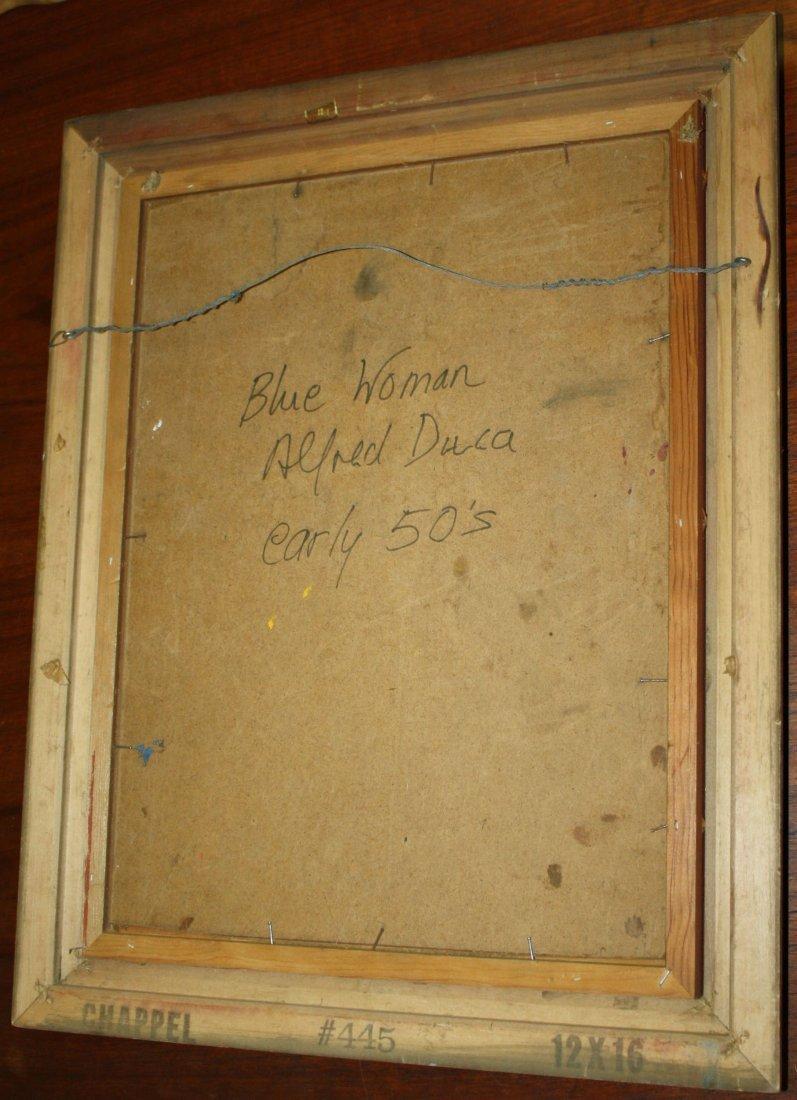 Alfred Milton Duca (American 1920-1997) Blue Woman  - - 2
