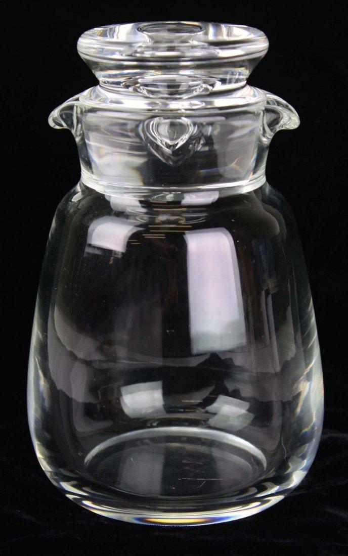 Steuben signed mid-century blown crystal art glass
