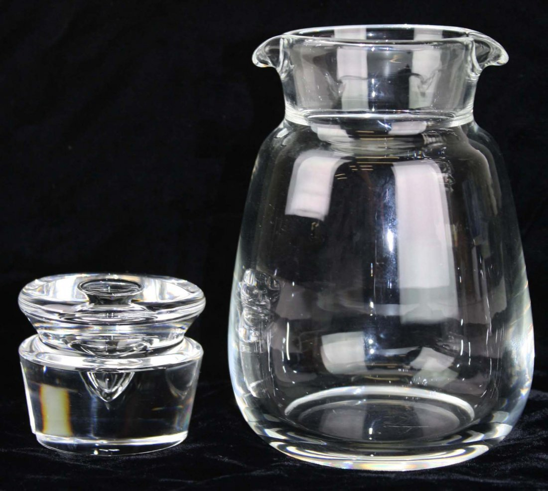 Steuben signed mid-century blown crystal art glass - 2