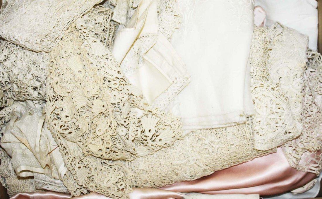 Victorian era linens, whitework