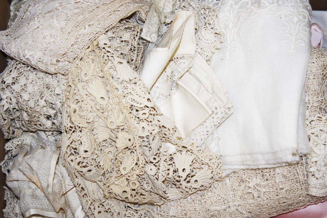 Victorian era linens, whitework - 2