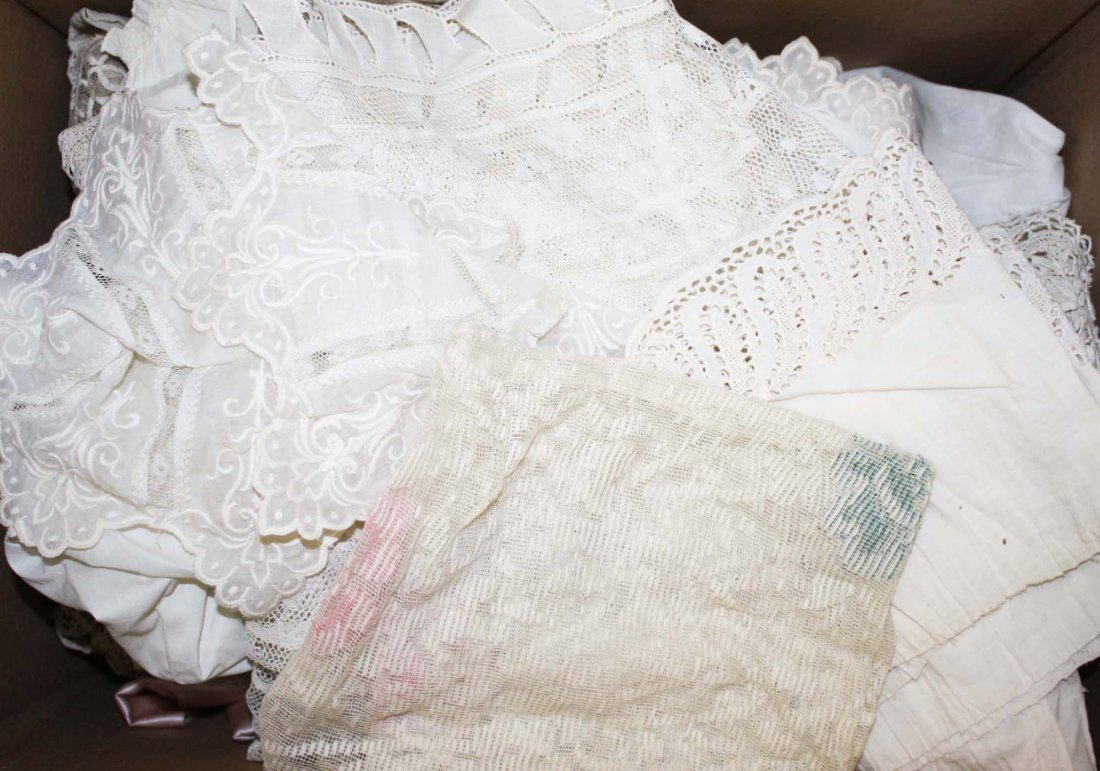 Victorian era linens, whitework - 4
