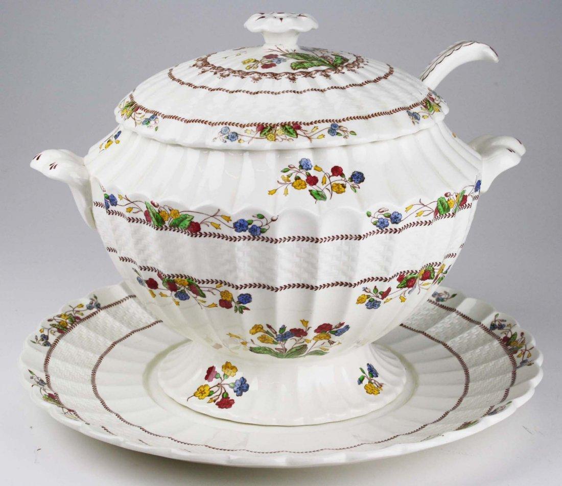 """Copeland Spode """"Spode Cowslip"""" porcelain soup tureen"""