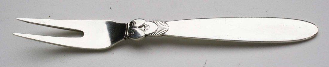 Georg Jensen sterling silver hand hammered decagon - 3