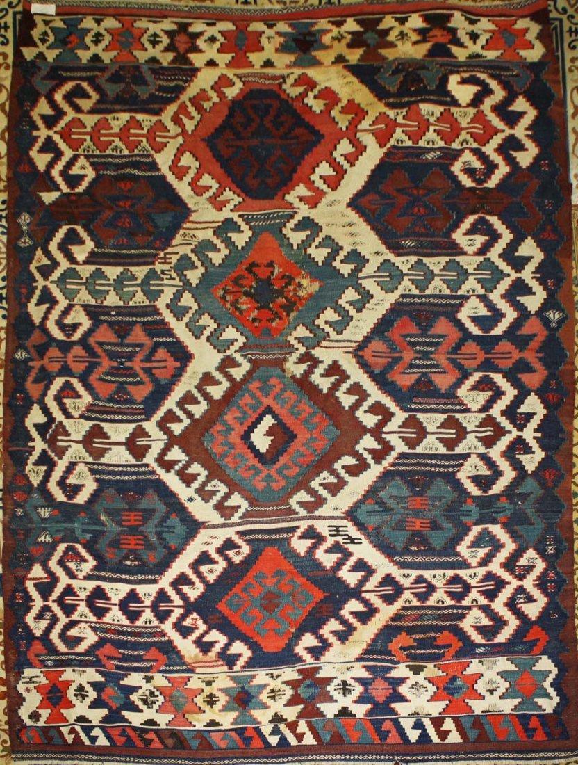 20th c Karakecili  kilim, Marla Mallett cloth label,