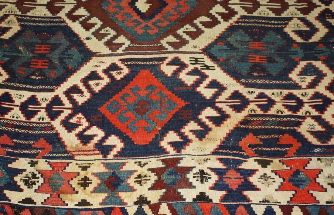 20th c Karakecili  kilim, Marla Mallett cloth label, - 3