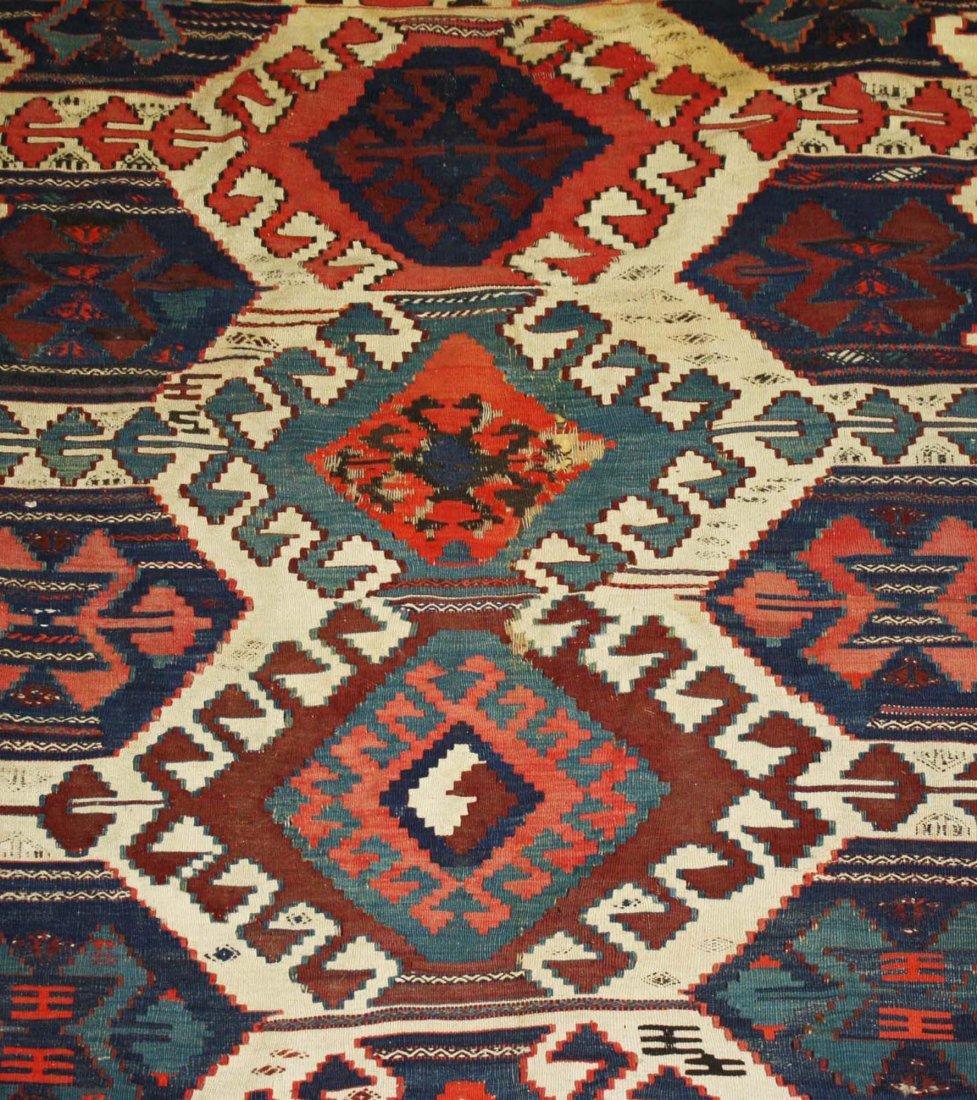 20th c Karakecili  kilim, Marla Mallett cloth label, - 4
