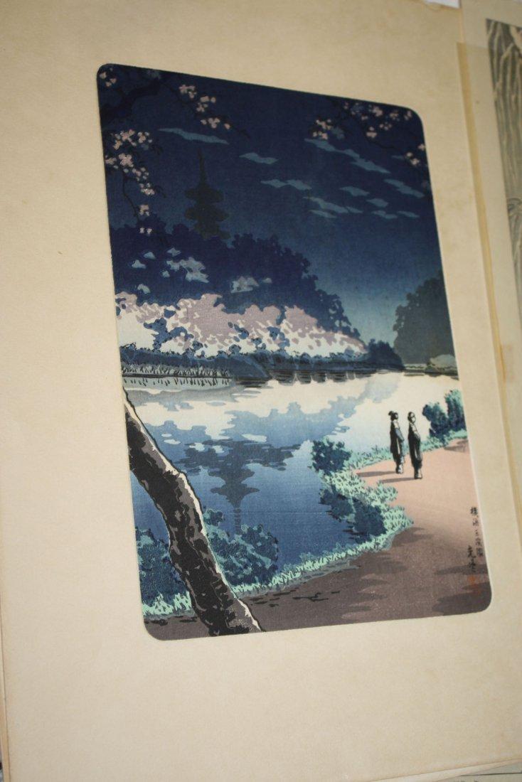 Six early 20th c Japanese wood block Ukiyo-e prints - 2