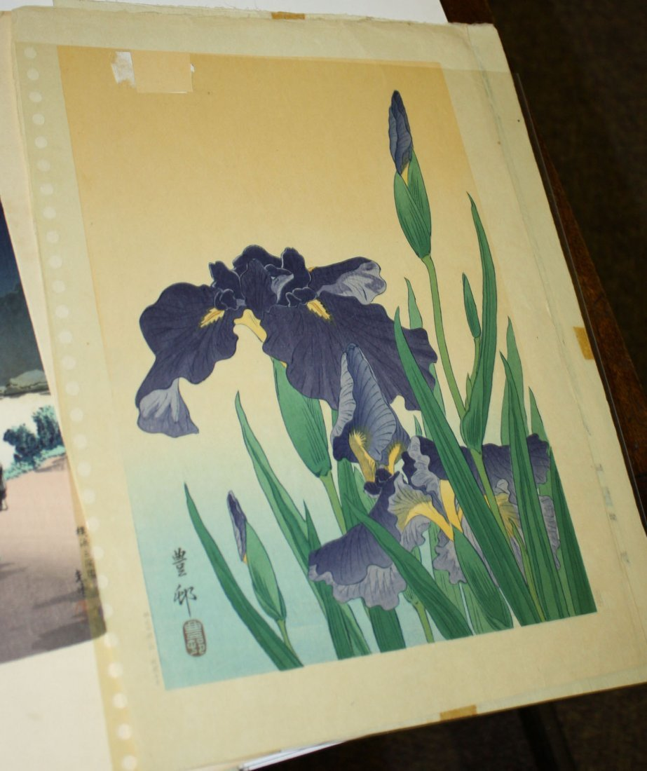 Six early 20th c Japanese wood block Ukiyo-e prints - 4