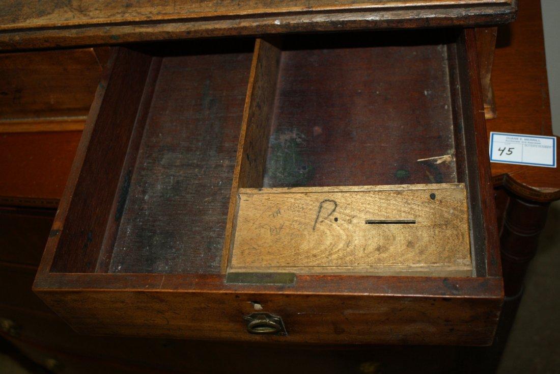 English schoolmaster or clerks table top desk, walnut, - 2