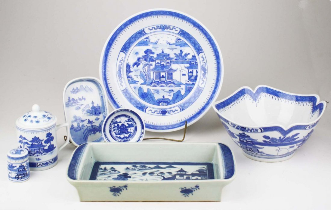 contemporary Canton china, 15 pcs