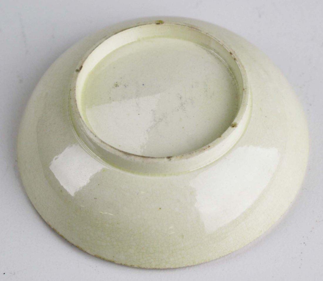 rare 18th c miniature mocha ware tea bowl & saucer with - 6