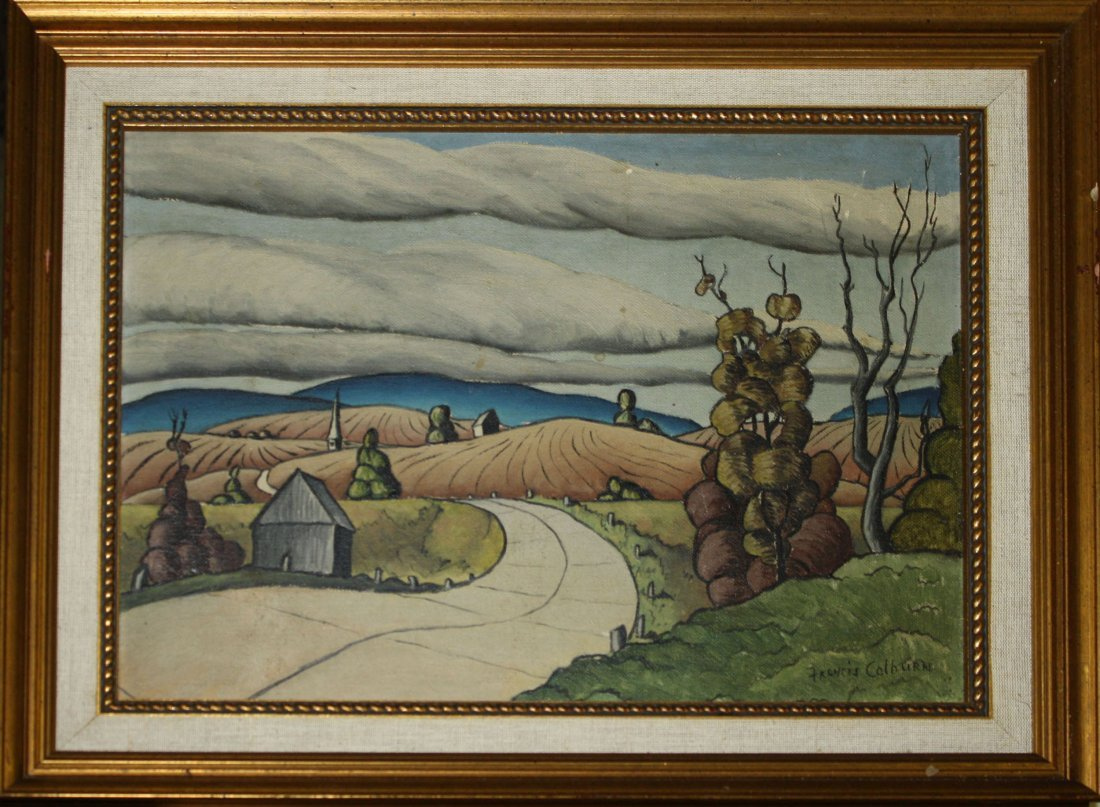 Francis Colburn (VT 1909-1984) Vermont Landscape 9 x