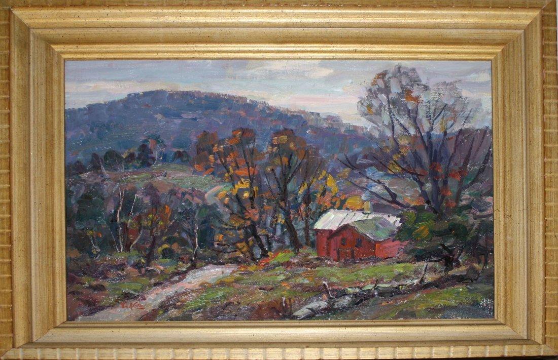 Thomas R. Curtin (VT 1899-1977) Cambridge VT landscape