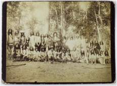 1880's cabinet photo of Buck Taylor with Indians