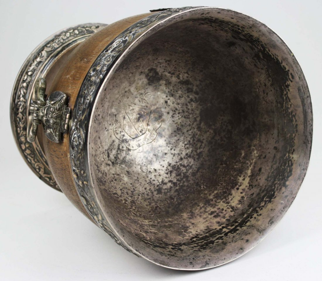 extremely rare 17th c English silver mounted lignum - 6