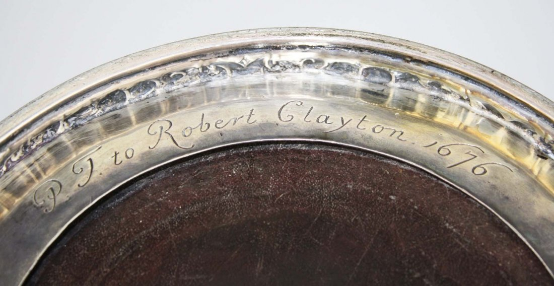 extremely rare 17th c English silver mounted lignum - 8