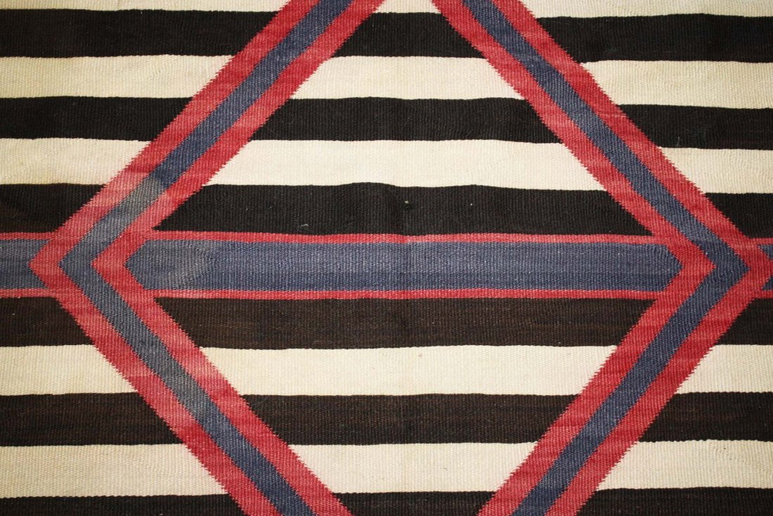 "ca 1890 Navajo Second Phase Chief's blanket, 4' 2"" x 5' - 3"