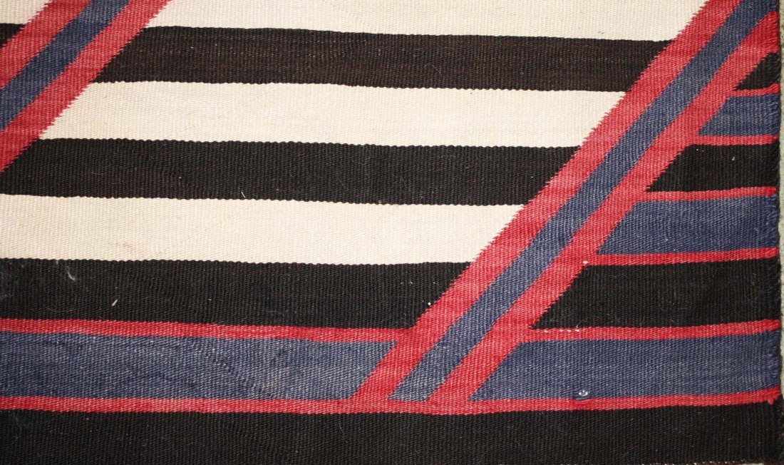 "ca 1890 Navajo Second Phase Chief's blanket, 4' 2"" x 5' - 4"