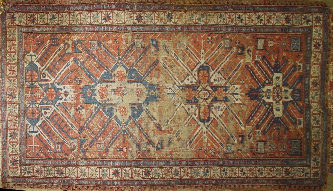 18th c- early 19th c flat woven eagle Kazak main