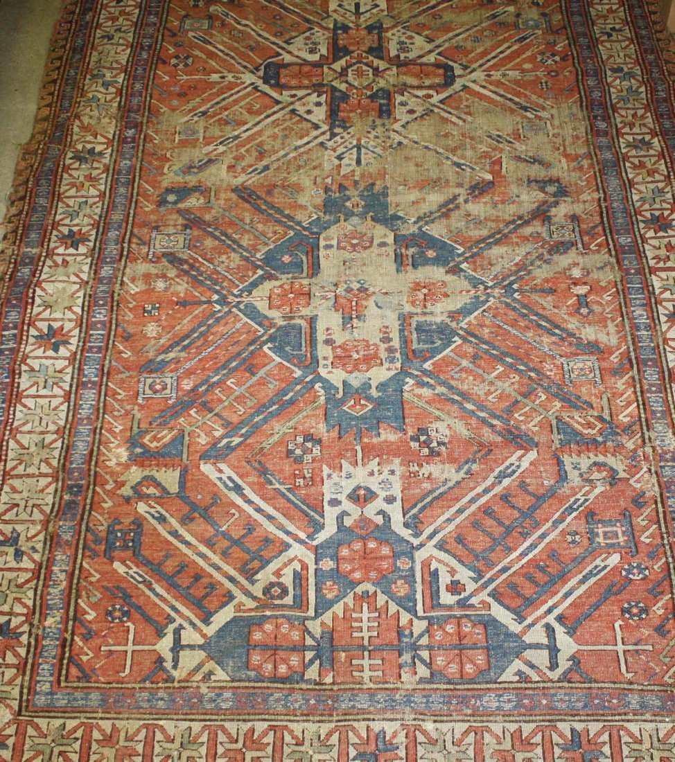 18th c- early 19th c flat woven eagle Kazak main - 2