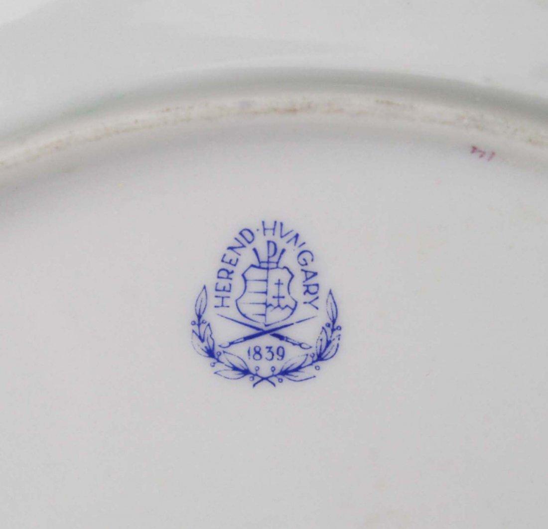 set of 6 Herend raspberry Indian Basket porcelain - 4