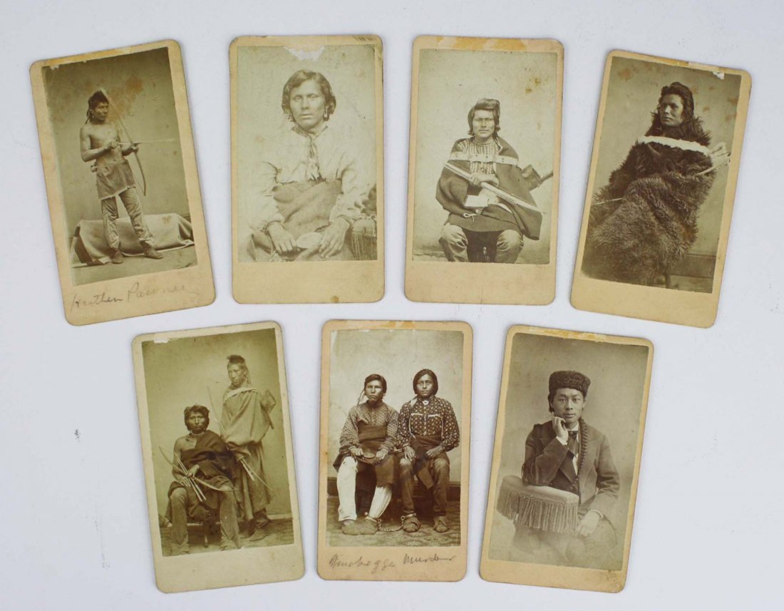 six important 1880's cdv photographs of Indians (five