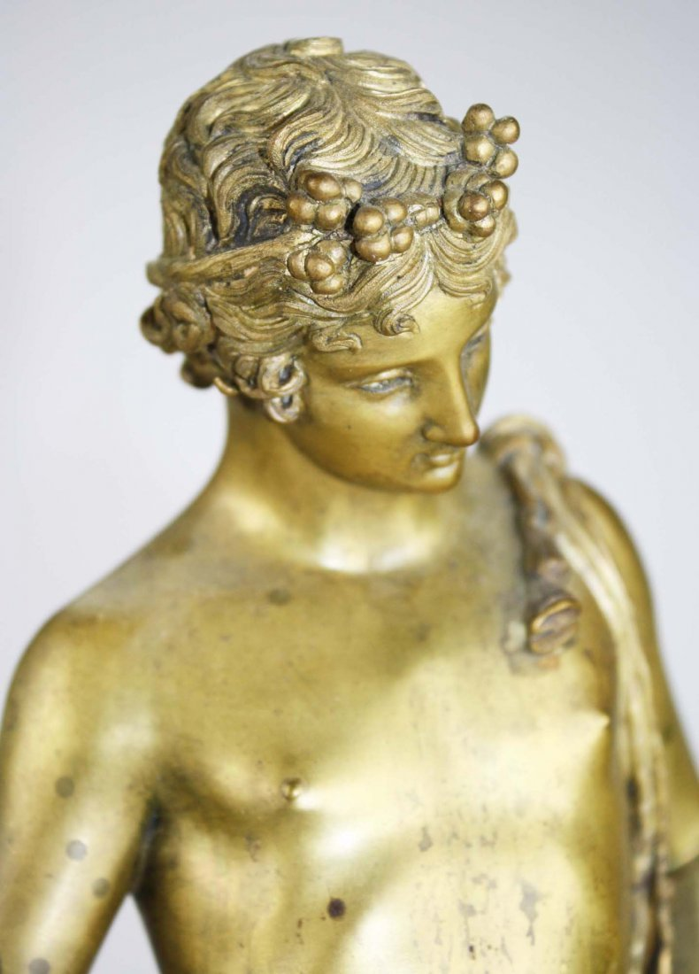 late 19th c cast bronze figure of Narcissus cast by the - 5