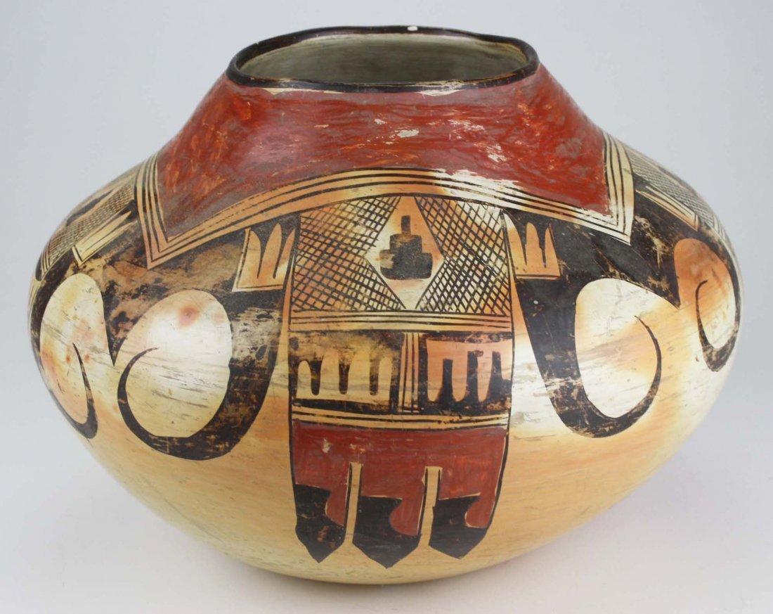 early 20th c Hopi or Zuni Pueblo three color olla