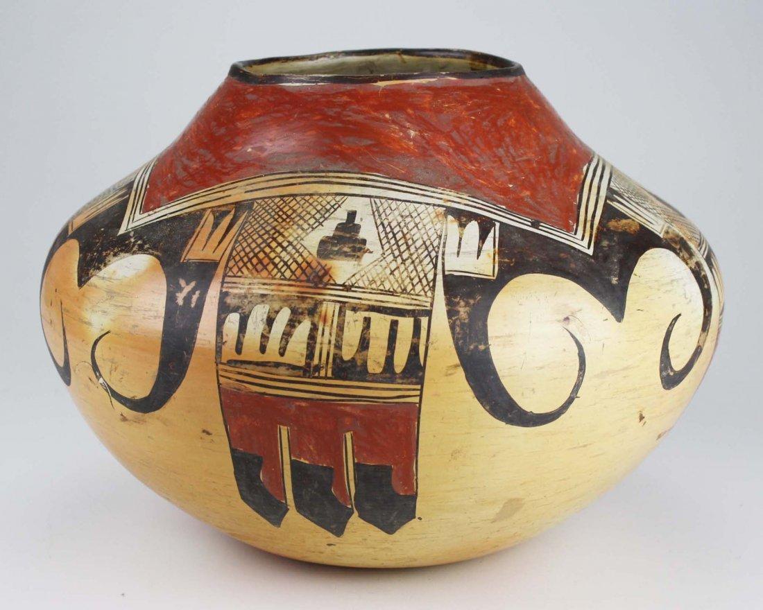 early 20th c Hopi or Zuni Pueblo three color olla - 3