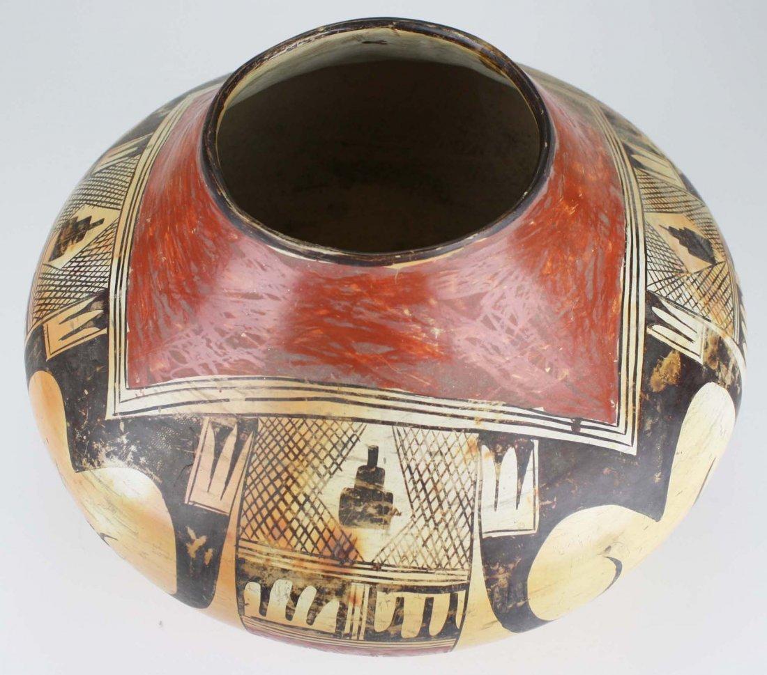 early 20th c Hopi or Zuni Pueblo three color olla - 5