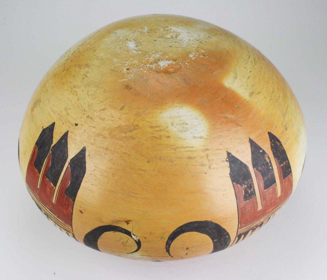 early 20th c Hopi or Zuni Pueblo three color olla - 6