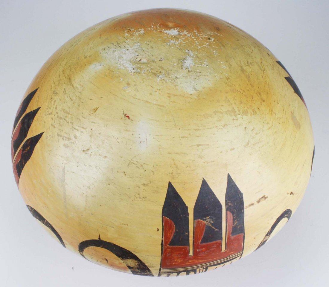 early 20th c Hopi or Zuni Pueblo three color olla - 7