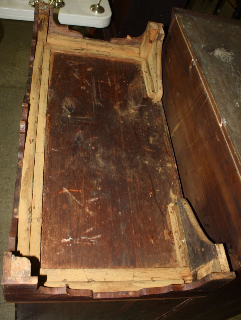 18th c Chippendale cherry chest on chest with carved - 2