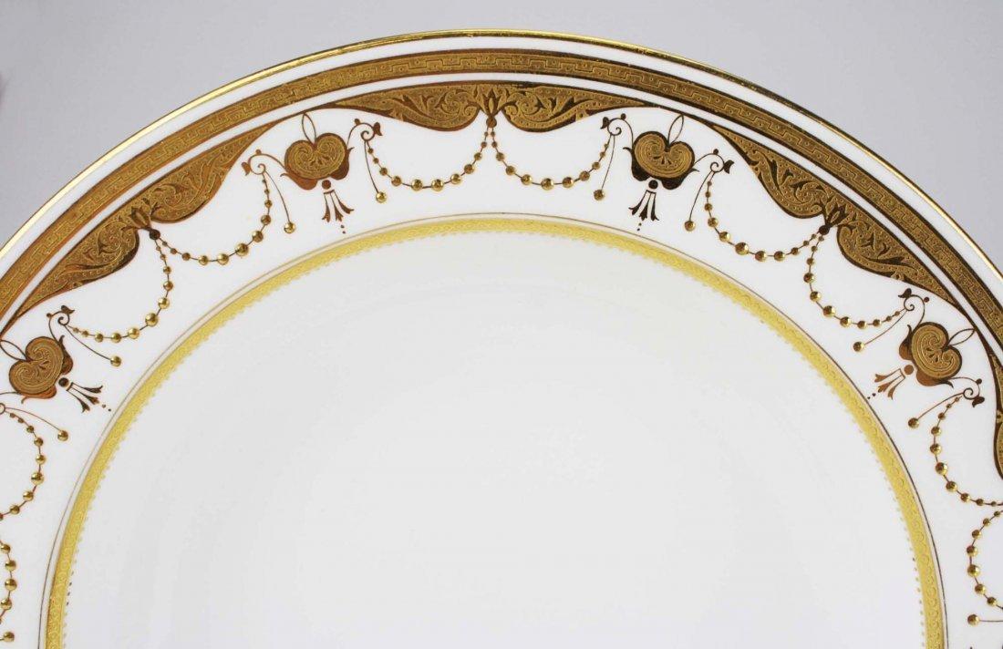 set of 9 Minton embossed and raised gilt enamel - 2