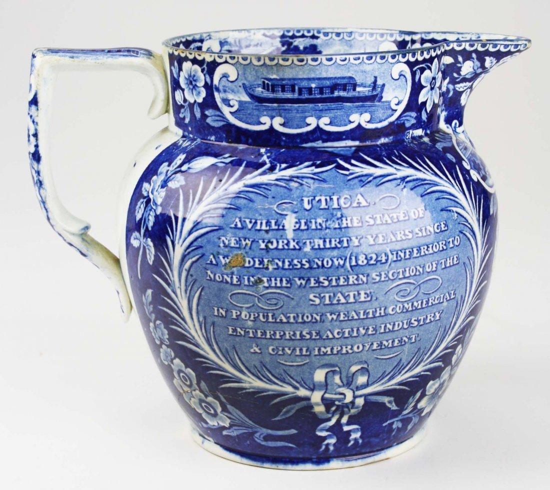 19th c. Deep Blue transferware historical Staffordshire