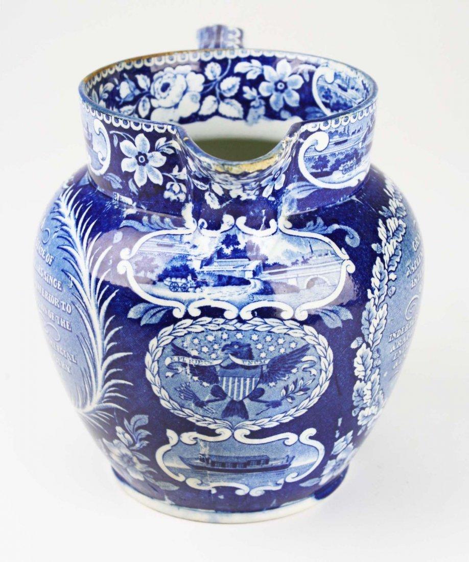 19th c. Deep Blue transferware historical Staffordshire - 2
