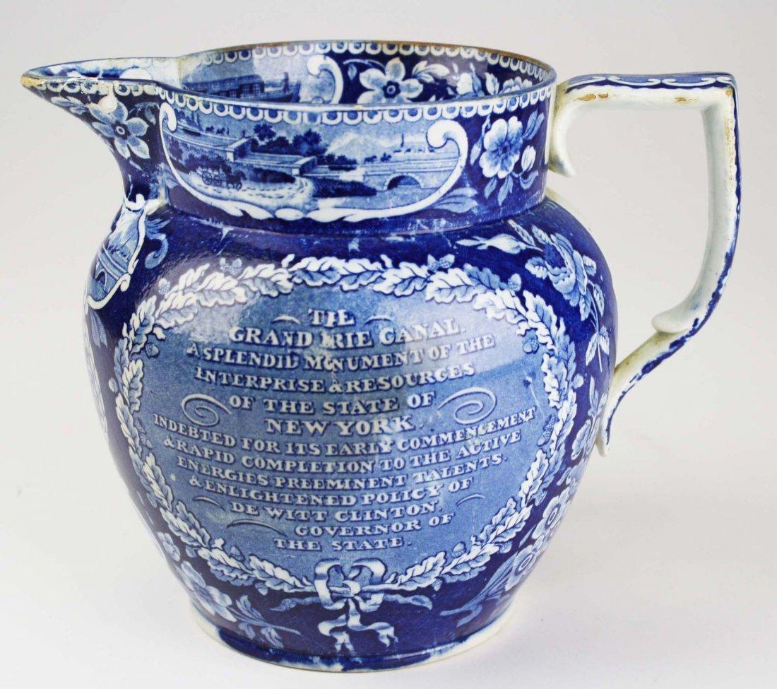19th c. Deep Blue transferware historical Staffordshire - 3