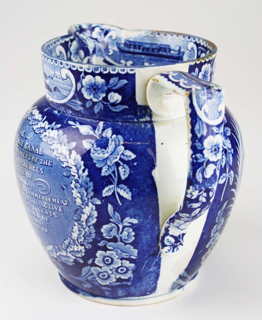 19th c. Deep Blue transferware historical Staffordshire - 4