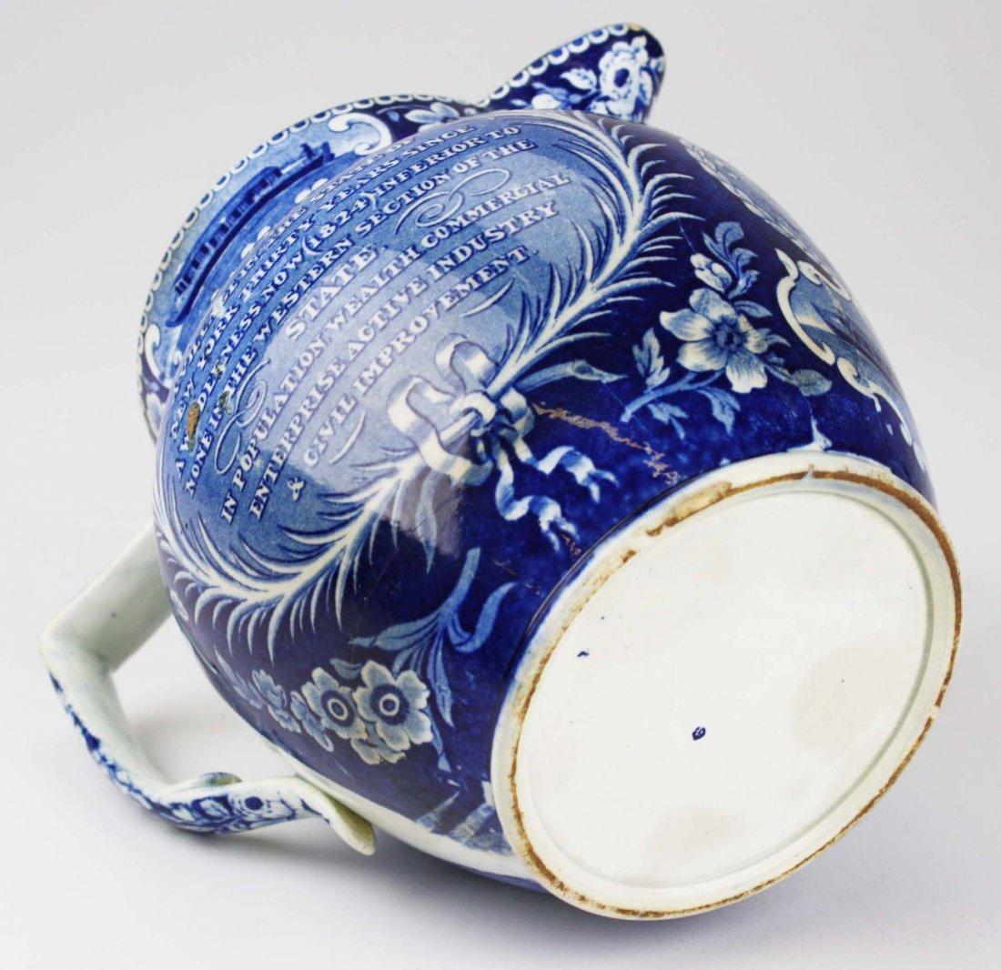 19th c. Deep Blue transferware historical Staffordshire - 5