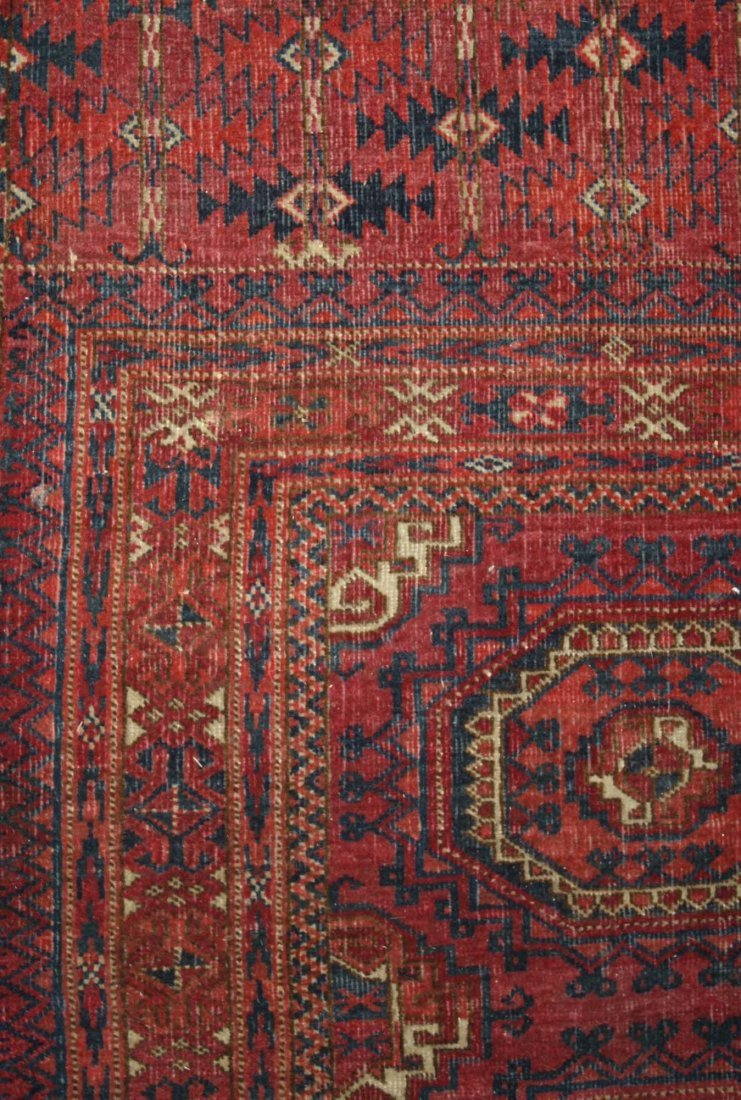 early 20th c Tekke Salor bagface with two rows of three - 2